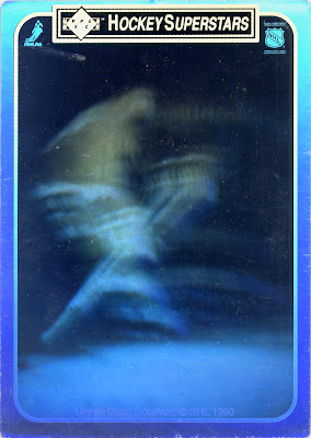 Steve Yzerman, Detroit Red Wings, Upper Deck, 90-91, hockey, hockey cards, nhl, hologram