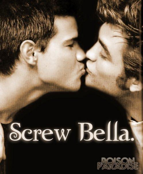 OMG OMG TWILIGHT! <3 Edward+cullen+and+jacob+black+kissing