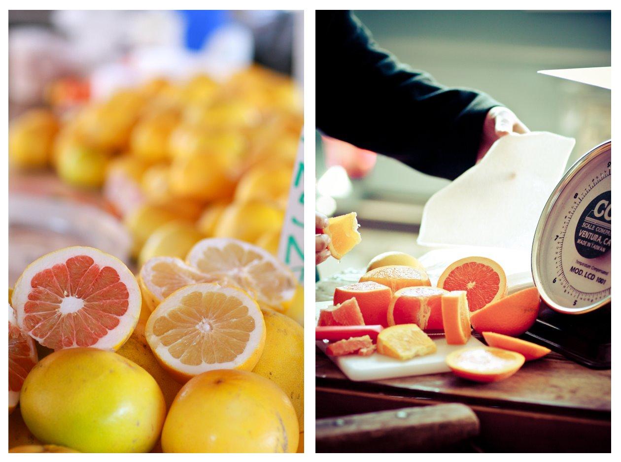 Sacramento Farmers Market Grapefruit Oranges