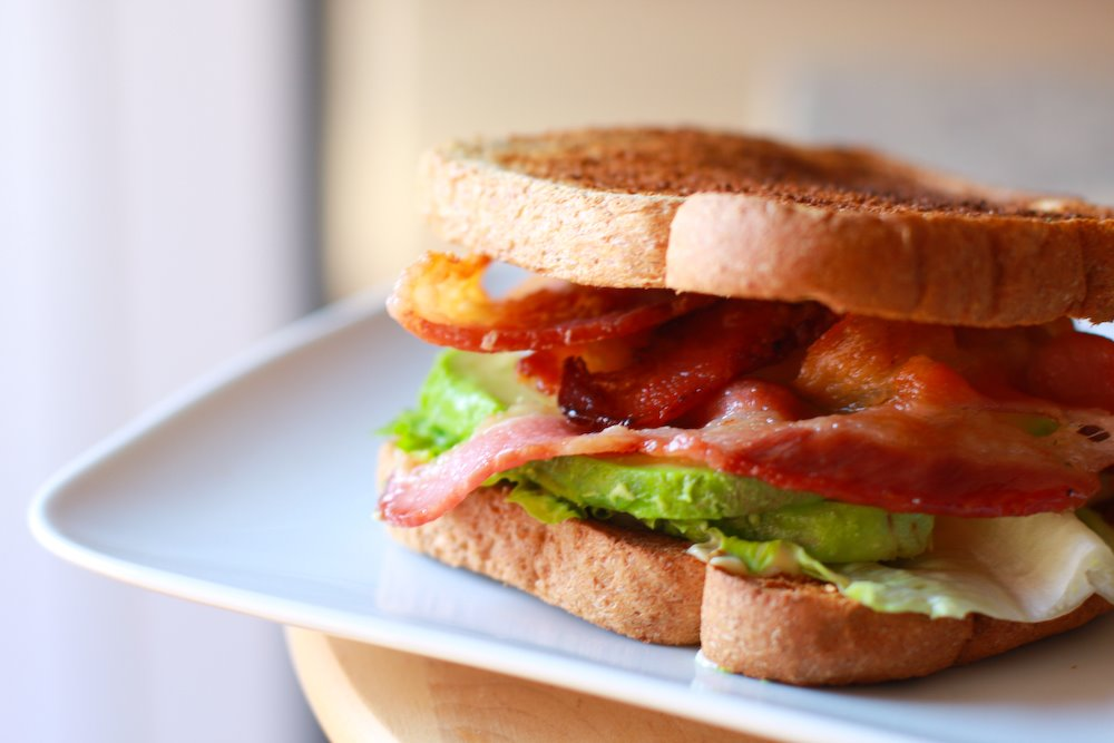 Bacon Lettuce Avocado Sandwich