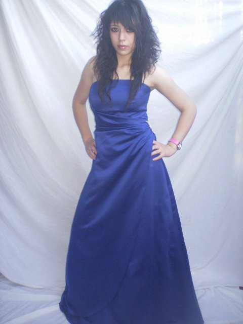 VESTIDO DAVID´S´BRIDAL  AZUL BELLO!!