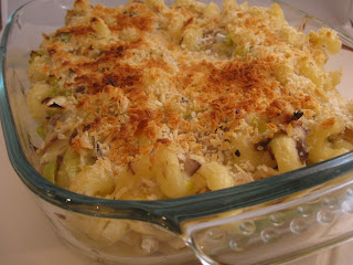 Smoked Mackerel, Leek and Radicchio Pasta Bake