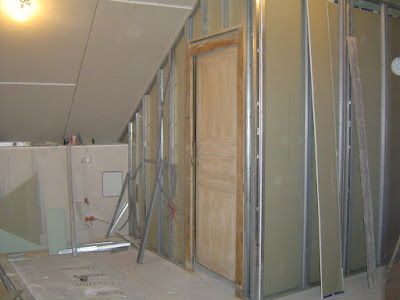 cr ation cloison salle de bains vive les travaux. Black Bedroom Furniture Sets. Home Design Ideas