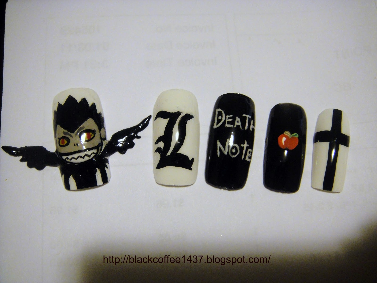 Silence is Loud: Requested: Death Note nails