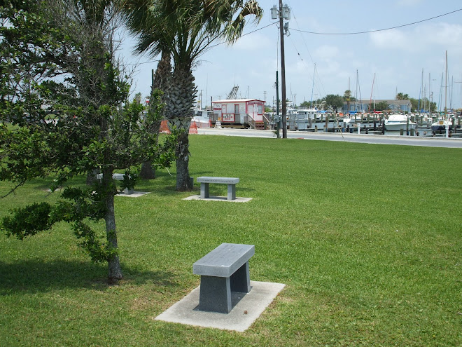 Bench Dedicated to Our Son in the Veterans Park Rockport, Tx