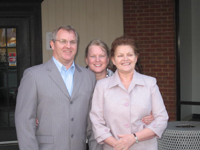 My brother, mom and me