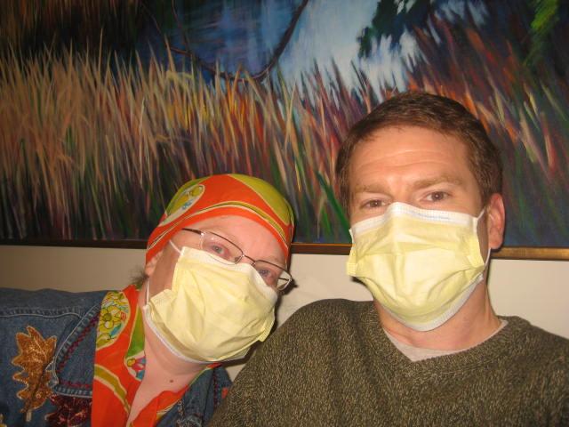 David took me to unhook my chemo bag