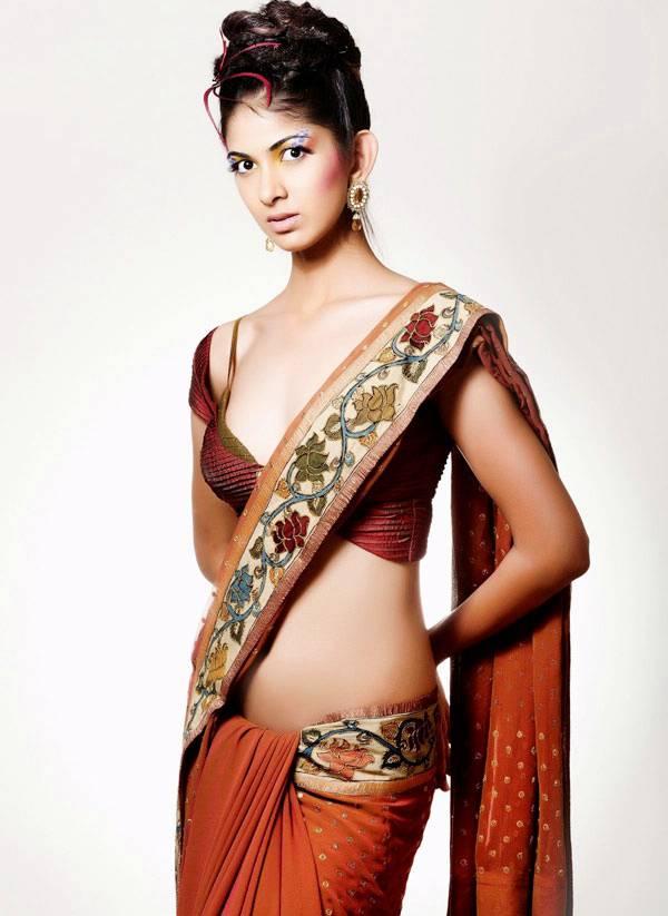, Indian Model Reha Hot Photoshoot in Saree