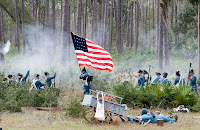 Click for Larger Image of the Battle Reenactment