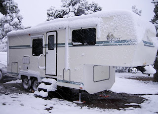 Click for Larger Image of Snow on My RV