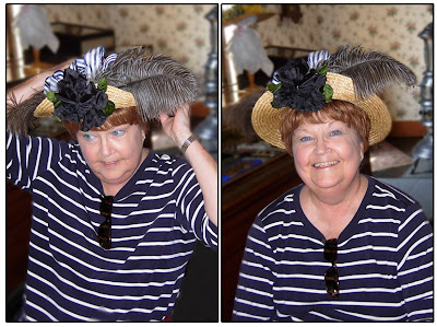 Click for Larger Image of Peachie in Her Greenfield Village Hat - August 2007