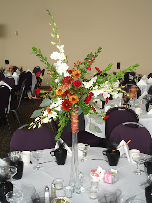 The urn centerpieces we used