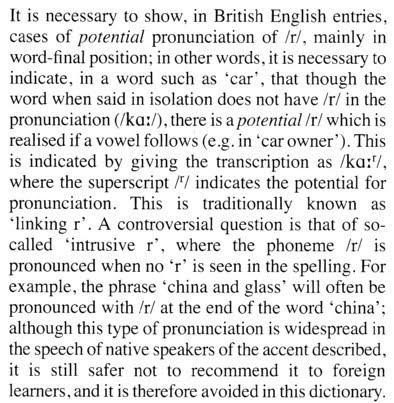 John Wellss Phonetic Blog Intrusive R In Epd