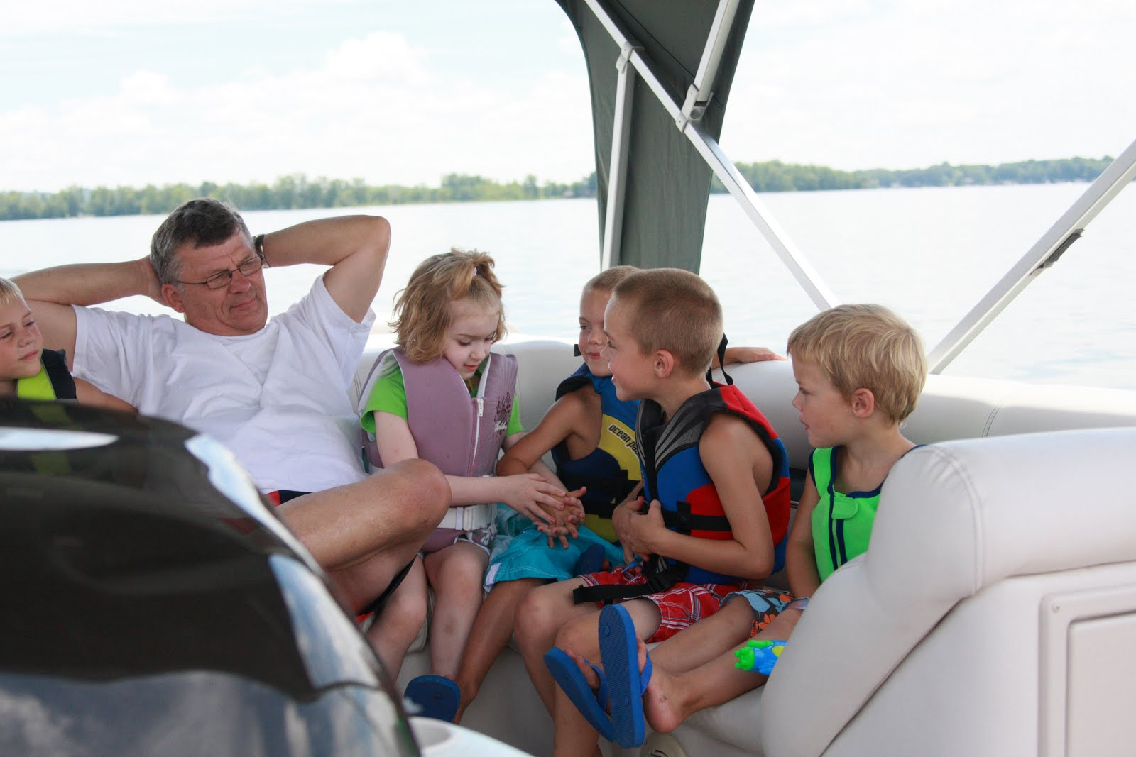 But Grandpas Surprise Made It Even Better He Was Able To Use The Bosss Tube As Well And Pulled The Boys And Morgan And Later Dylan Around The Lake