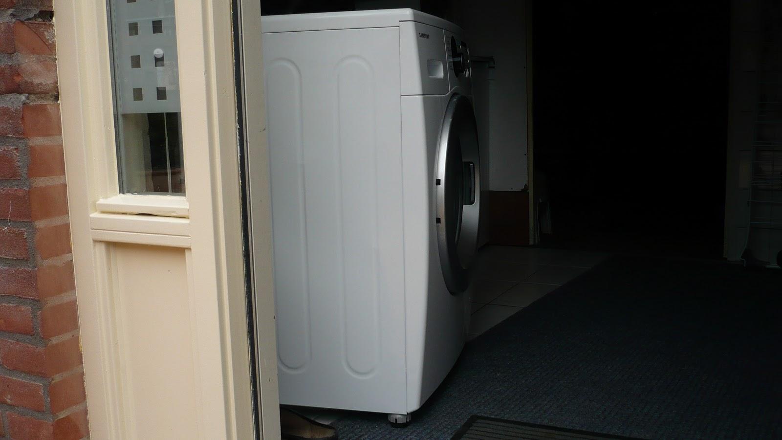 Wandelende wasmachine