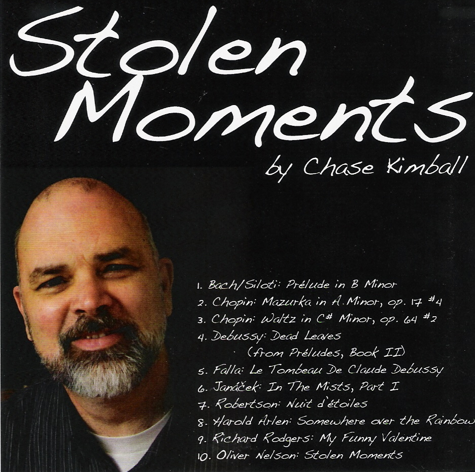 Chase Kimball, a talented amateur pianist (in the best sense of the word ...