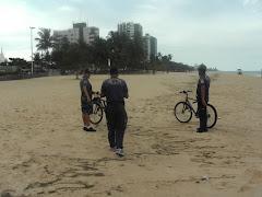O GAT em ação preventiva na praia de Piedade.