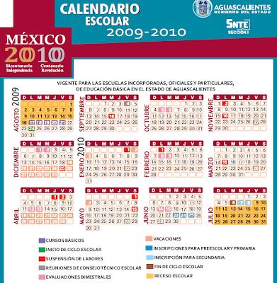 Calendario escolar 2009 - 2010 Aguascalientes, México Abríl, Feria de San Marcos, Semana Santa