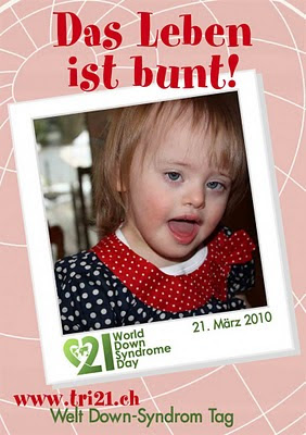 Welt-Down-Syndrom-Tag 2010 in der Schweiz: Das Leben ist bunt, Behinderung Handicap, deutsch, Down Syndrom, Down-Syndrome, Extrachromosom, Kind, Schweiz, Trisomie 21,