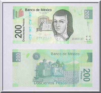 200-Peso-Schein Mexiko, neu, nuevo billete 200 pesos Mexico