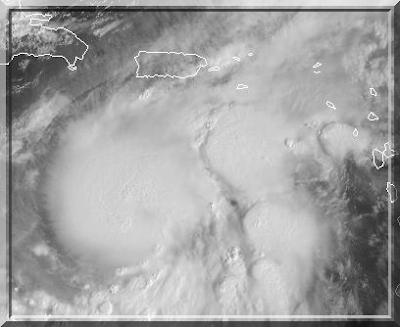 Hurrikan Omar, Puerto Rico, Oktober, Hurrikansaison 2008, Hurricane, Sturm, storm, tormenta, Zyklon, Mexiko, Mexico, Tropische Depression, Sturm, Prognose, Zugbahn, Pazifik, Atlantik, forecast, Vorhersage, Satellitenbild