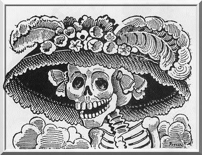 La Catrina, Mexiko, Aguascalientes, Mexico, Totentag, Tag der Toten, Día de los Muertos, José Guadalupe Posada