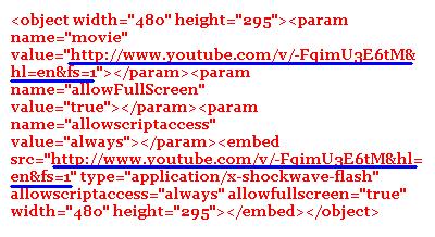 Code, Video, YouTube, HD, normale Qualität, hohe Qualität, embed, einbetten, Website, Blog