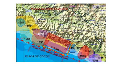 Erdbeben Acapulco, Guerrero, Mexiko, seismische Bresche