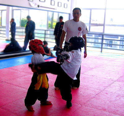 Wo die Torte hingehoert und ein Kick, Kung Fu, Aguascalientes, Fotos, Mexiko, Niklas, Sport,