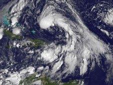 Atlantik aktuell: Subtropischer Sturm OTTO wird vielleicht doch zum Hurrikan, 2010, aktuell, Atlantik, Azoren, Hurrikanfotos, Hurrikansaison 2010, Otto, Zugbahn, Vorhersage Forecast Prognose, NASA,