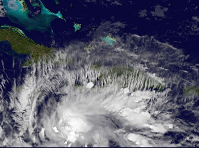 Wirbelsturm TOMAS aktuell: Nun doch als Hurrikan nach Haiti?, Vorhersage Forecast Prognose, NASA, 2010, Atlantik, Haiti, Hurrikansaison 2010, TOMAS, Karibik, Jamaika, Sturm, Live Stream Satellitenbild, Hurrikan Satellitenbilder,