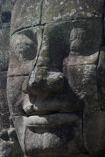 bayon temple angkor wat close up of a face