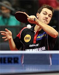 Timo Boll beaten by Michael Maze but it was victory for Germany