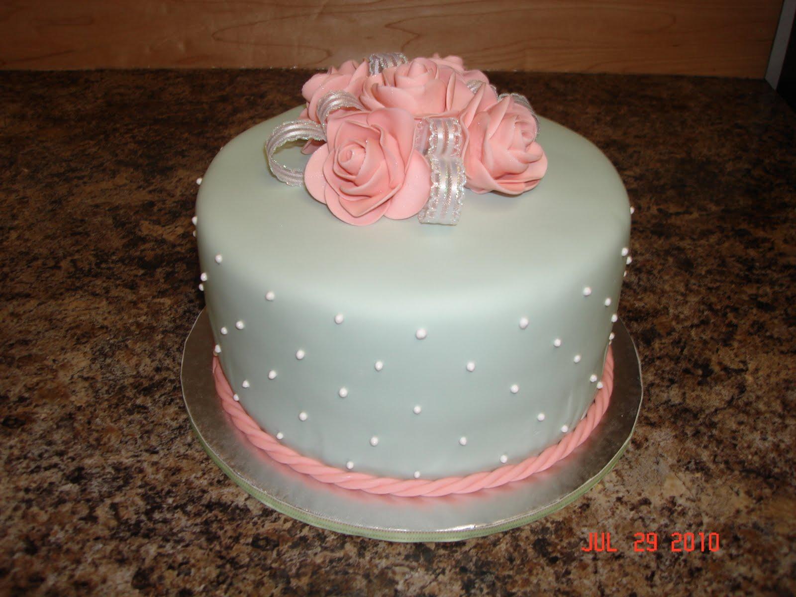 Custom Cakes By Denise Pink Rose Cake