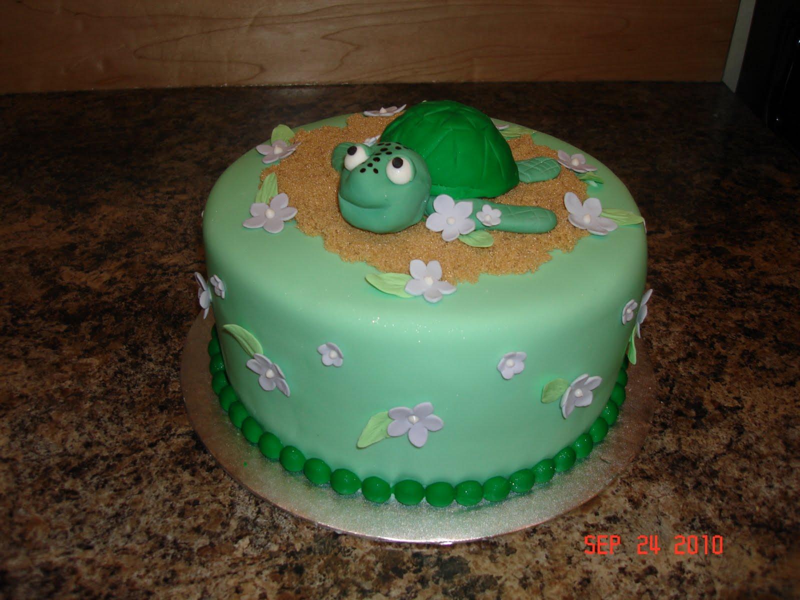 Custom Cakes By Denise Turtle Birthday Cake