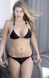 Excited Carmen electra joggong bikini you thanks