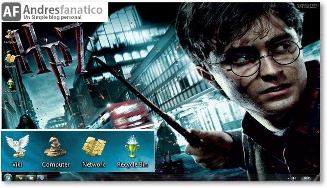 Harry Potter y Las Reliquias de la Muerte Tema para Windows 7 descargar pelicula