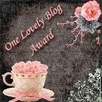 My first award - from the lovely Terri