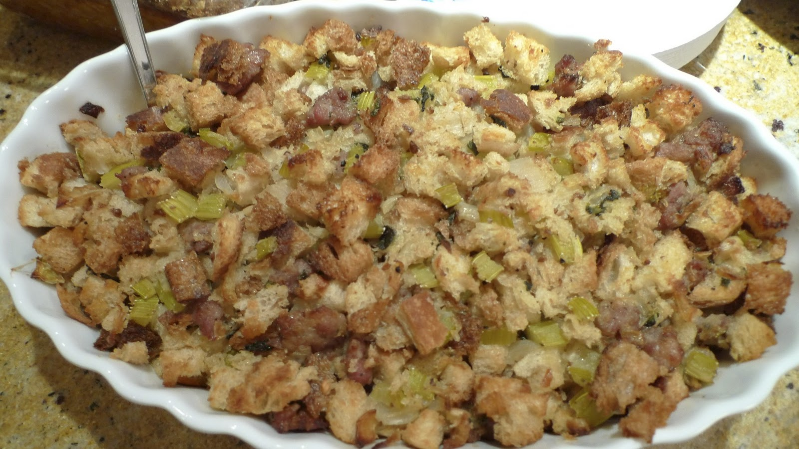 What's Cooking at Soomeenshee's: Italian Sausage Stuffing