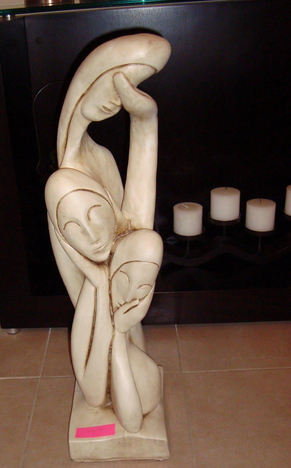 Decoracion artesanal escultura mujeres - Esculturas decoracion ...