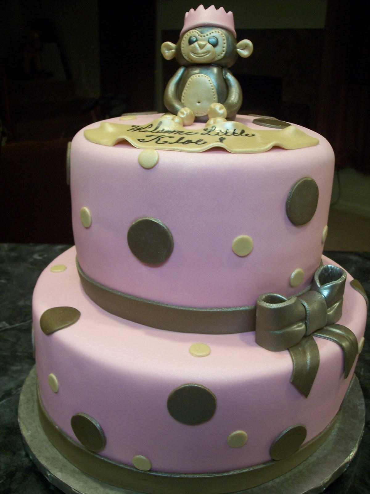 mymonicakes princess monkey baby shower cake