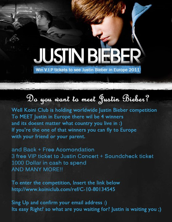 Win vip tickets to see justin bieber in europe 2011 u p i c win vip tickets to see justin bieber in europe 2011 m4hsunfo