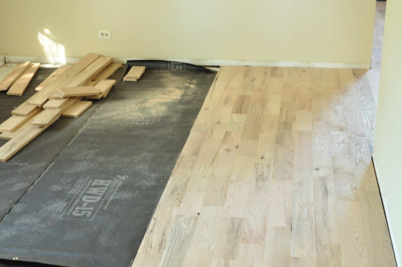 OSB Floors with Oak Cabinets