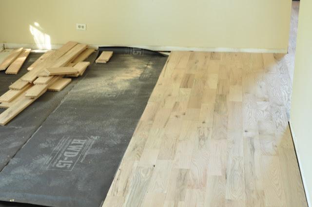 Plywood subfloor under wood floor