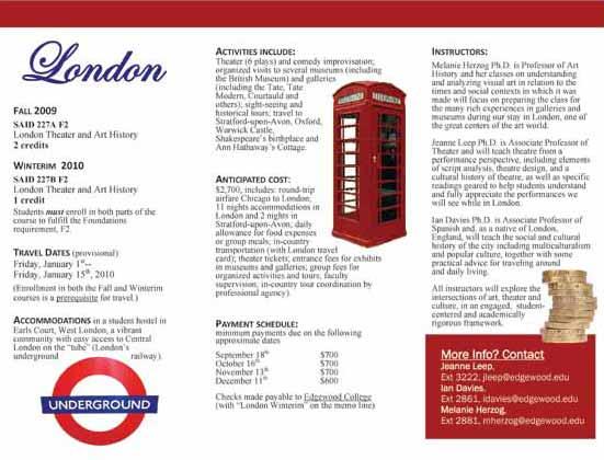 learning english  london brochure
