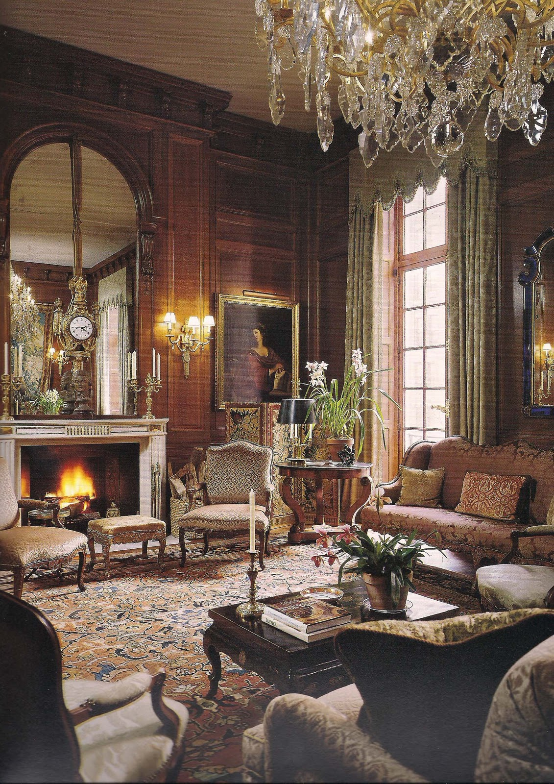 The devoted classicist a french kiss in manhattan 15 e for Classic traditional living rooms