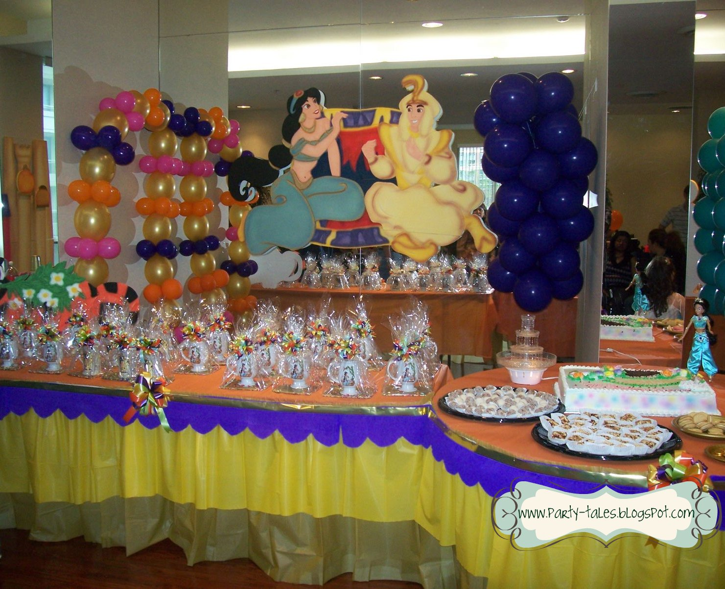 Birthday Party~ Jasmine and Aladdin ~ A Magical party in the