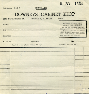 Downey's Cabinet Shop - Receipt