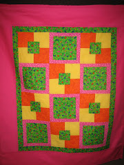 "Green Lady Bug Baby Blanket - Using the ""Five Yard Pattern"""