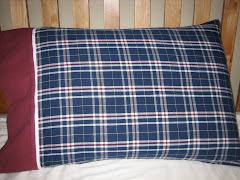 Blue Plaid Flannel Pillowcase